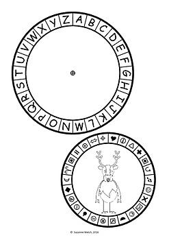 Christmas Secret Code Wheel  -  Alphabet and Symbols