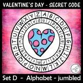 Secret Code Wheel - Valentine's Day - Alphabet (jumbled)