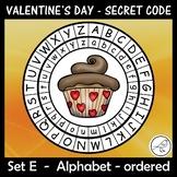 Secret Code Wheel - Valentine's Day - (alphabet - ordered)