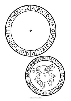Secret Code Wheels - Templates  -  Christmas Theme  -  Bundle