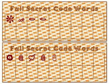 Secret Code Words: Fall