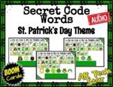 Secret Code Words - St. Patrick's Day Theme Boom Cards w/ AUDIO