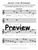 Secret Code Worksheet - treble clef
