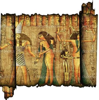 Secret Code - art project inspired by anciant Egiption art
