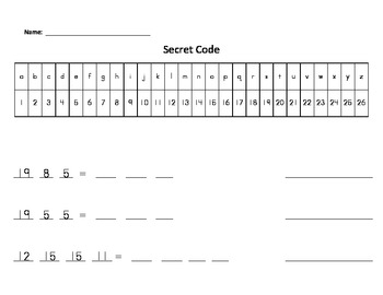 Secret Code with High-Frequency Words