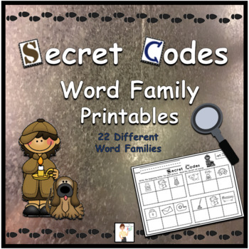 Secret Codes - CVC Word Family Printable Worksheets