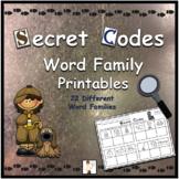 Secret Codes - CVC Word Family Printable Worksheets