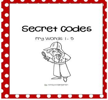 Secret Codes   Fry Words List 1