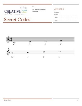 Secret Codes Music Composition Lesson Plan