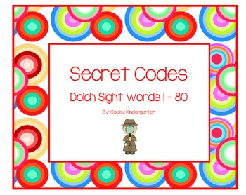 Secret Codes with Dolch Words 1-80
