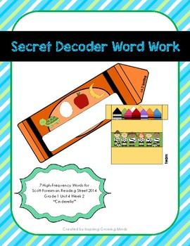 Secret Decoder Word Work Reading Street Grade 1 Unit 4 Week 2 High-Freq. Words