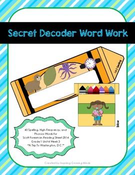 Secret Decoder Word Work Scott Foresman Reading Street Grade 1 Unit 4 Week 3