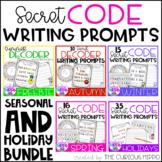 Secret Decoder Writing Prompts Growing Bundle
