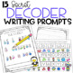 Winter writing prompts using secret code
