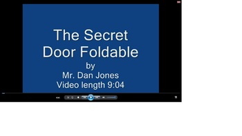 Secret Door Foldable Tutorial