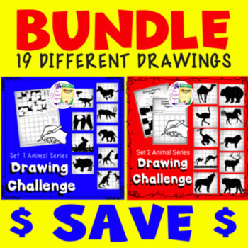 Directed Drawing Lesson 1 and 2 - Bundle  - Sub - Free Time Activity