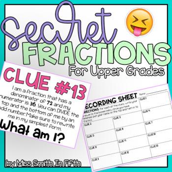 Secret Fractions for Upper Elementary