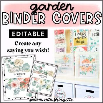 Secret Garden EDITABLE Binder Covers and Spines
