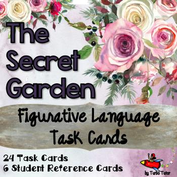 Secret Garden Figurative Language Task Cards
