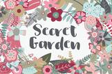 Secret Garden Floral Clip Art - 145 PNG, AI and EPS Vector Images