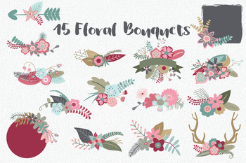Secret Garden Floral Clip Art - 145 PNG, AI and EPS Vector Images