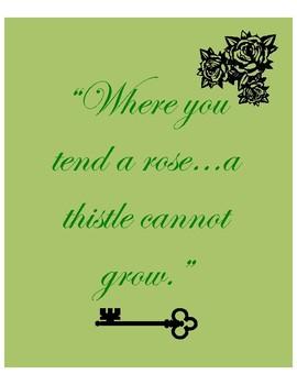 Secret Garden Minimalist Poster