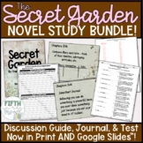 Secret Garden Novel Study BUNDLE discussion guide student journal and test