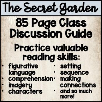 Secret Garden Novel Study NO PREP Class Discussion Guide