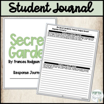 Secret Garden Student Response Journal