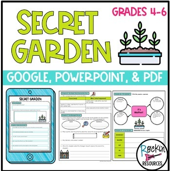 Rockin Resources' Secret Garden Unit Activities, Questions and Tests, available on TpT