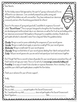 Secret Gnome Classroom Community Builder