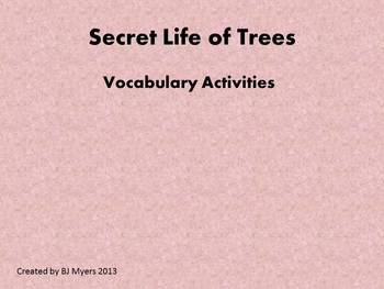 Secret Life of Trees Vocabulary Unit