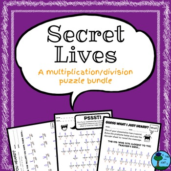 Secret Lives: Hidden Message Puzzle Bundle (Multiplication/Division)
