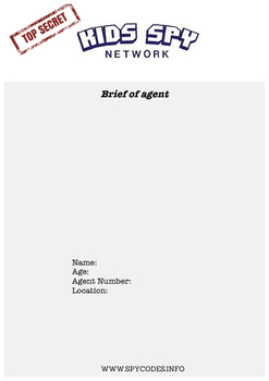 Secret MIssion: Age 7- PDF Only