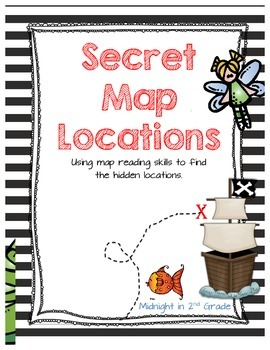 Secret Map Location - Map Skills Practice