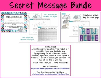 Secret Message Bundle 4.2D, 4.3D, 4.4D