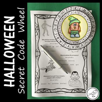 Secret Message Code Wheel  -  Halloween  -  (alphabet)