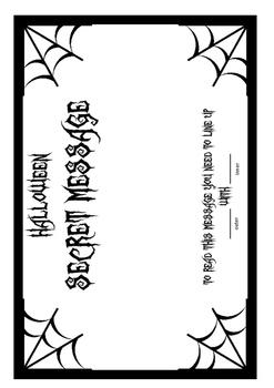 Secret Message Code Wheel  -  Halloween  -  (alphabet & numbers)