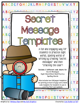 Secret Message - Crack the Code Templates