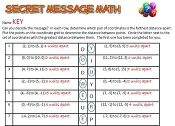 Secret Message Math - 13 Activity Bundle - Math Fun!