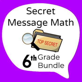 Secret Message Math - 13 Activity Bundle - Math Fun!