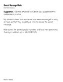 Secret Message Math - Addition