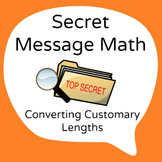 Secret Message Math - Convert Customary Lengths