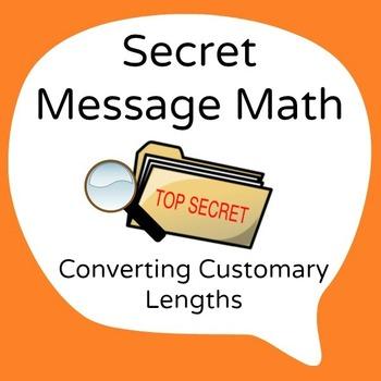 Secret Message Math - Convert Customary Lengths