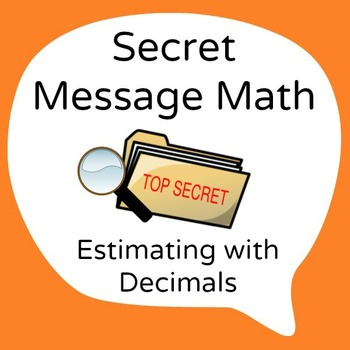 Secret Message Math - Decimal Operations - All 4 Operation