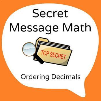 Secret Message Math - Ordering Decimals