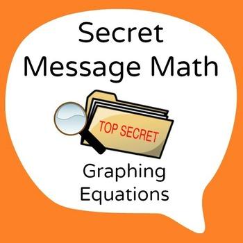 Secret Message Math - Translate between Equations & Graphs