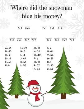 Secret Message Multiplication Worksheet