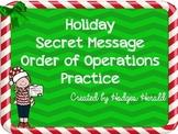 Secret Message Order of Operations FREEBIE