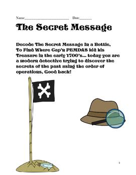 Secret Message in a Bottle